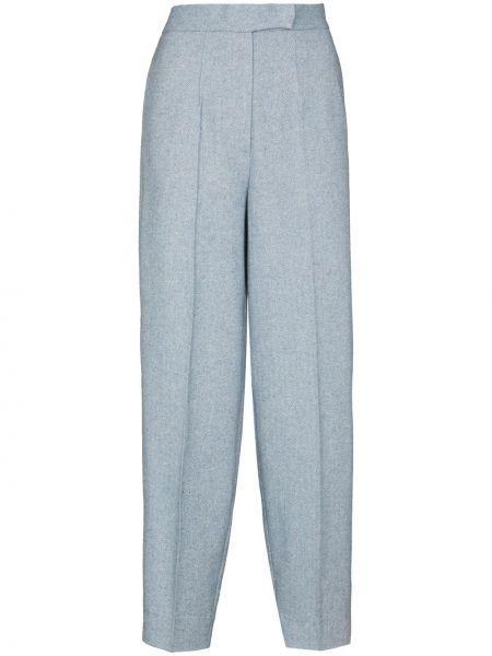 Акриловые свободные брюки с карманами свободного кроя с высокой посадкой Anouki