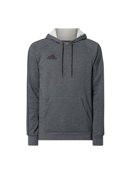 Bawełna srebro bluzka z raglanowymi rękawami z kieszeniami Adidas