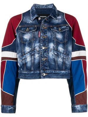 Ватная синяя джинсовая куртка с воротником Dsquared2