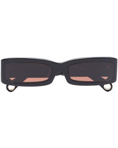 Акриловые черные солнцезащитные очки прямоугольные Jacquemus