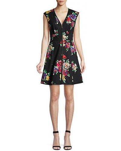 Свободное черное платье без рукавов Kate Spade New York