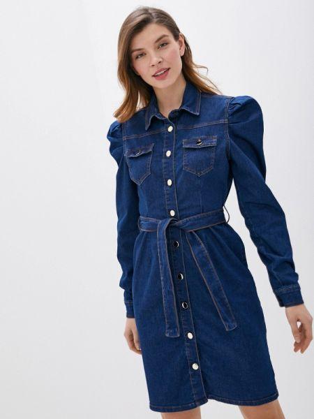 Джинсовое платье синее весеннее Rinascimento