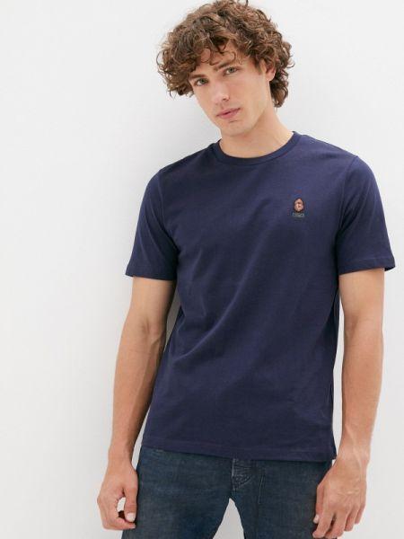 Синяя футболка с короткими рукавами Qwentiny