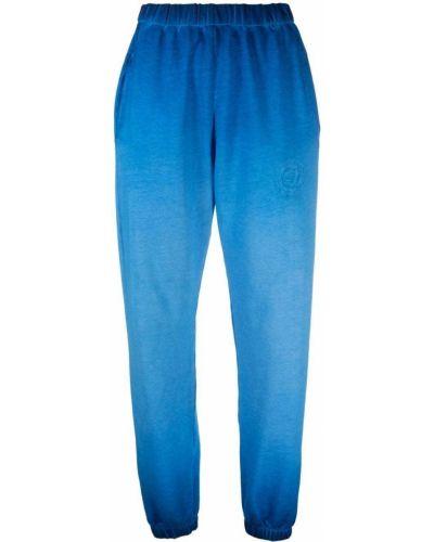 Хлопковые синие брюки с карманами Opening Ceremony