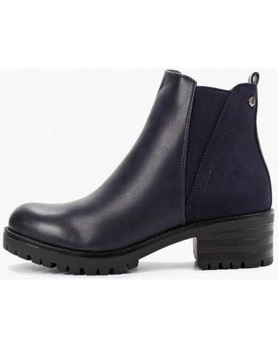 Кожаные туфли замшевые синий Ideal Shoes®