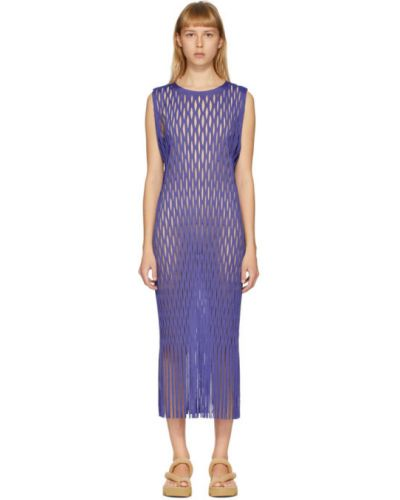 Платье с бахромой плиссированное Issey Miyake