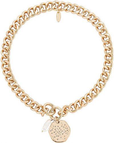 Złoty naszyjnik z pereł Ettika