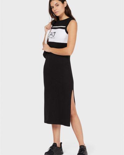 Черное платье Ea7