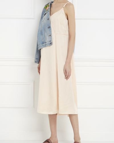 Платье миди с декольте из вискозы Alexander Wang