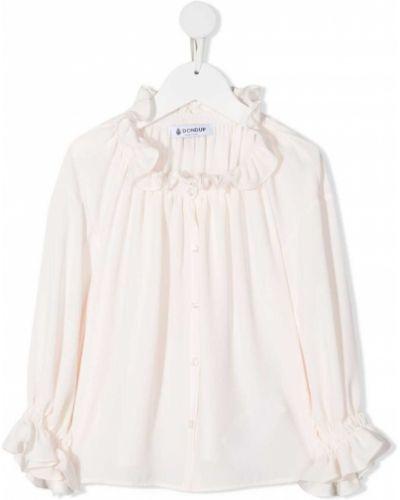 Белая блузка с длинными рукавами с воротником Dondup Kids