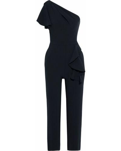 Черный комбинезон на крючках с карманами Marchesa Notte