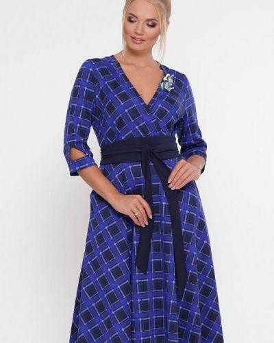 Повседневное платье весеннее синее Vlavi