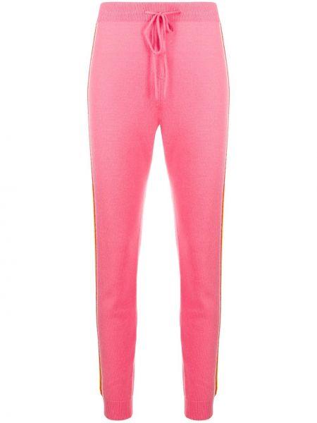 С кулиской кашемировые розовые спортивные брюки с карманами Chinti And Parker