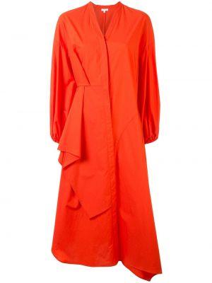 Bezpłatne cięcie bawełna asymetryczny długo sukienka z dekoltem w szpic Enfold