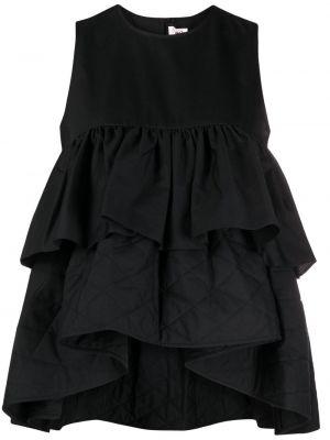 Хлопковая черная блузка без рукавов Comme Des Garçons Noir Kei Ninomiya