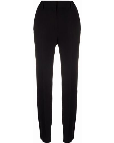 Spodnie z wysokim stanem z paskiem - czarne Mm6 Maison Margiela