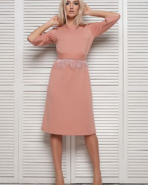 Платье мини с V-образным вырезом с поясом Leleya