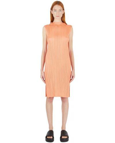 Sukienka - pomarańczowa Issey Miyake