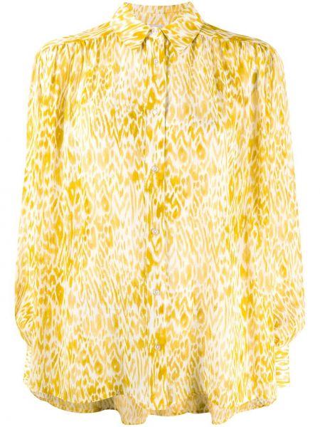 Шелковая классическая классическая рубашка с воротником на пуговицах Anine Bing