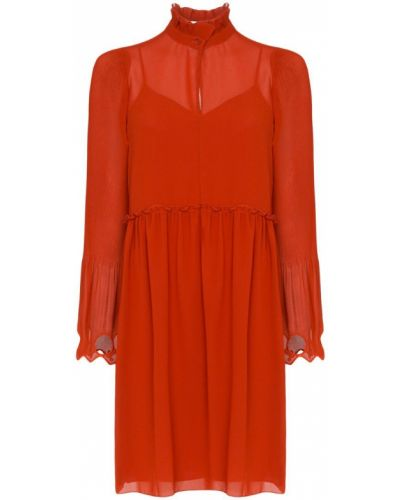 Платье с заниженной талией шифоновое See By Chloé
