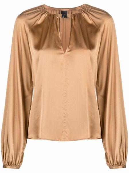 Bluzka z jedwabiu - beżowa Pinko