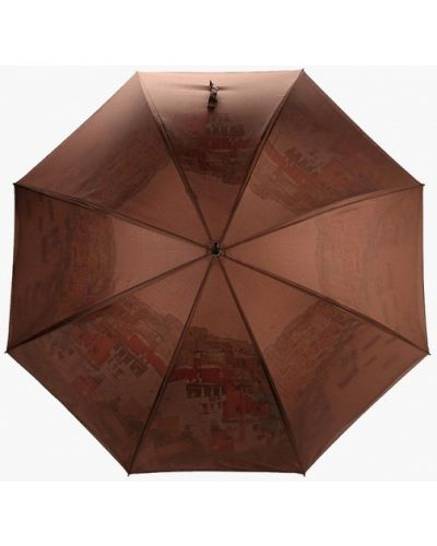 Коричневый зонт-трость Eleganzza