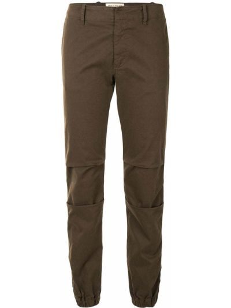 Коричневые брюки милитари узкого кроя эластичные Nili Lotan