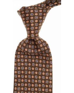 Brązowy krawat z jedwabiu John Varvatos