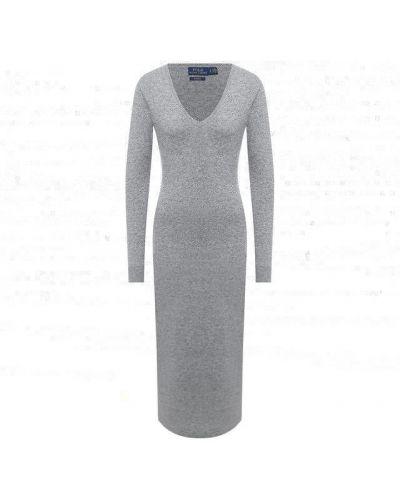 Кашемировое серое платье Polo Ralph Lauren