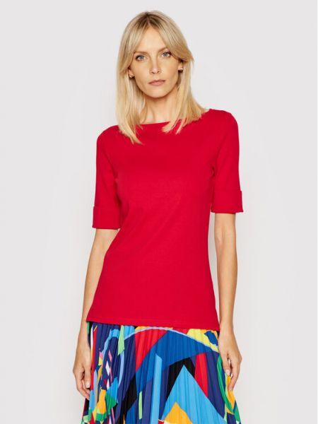 Czerwona bluzka Lauren Ralph Lauren