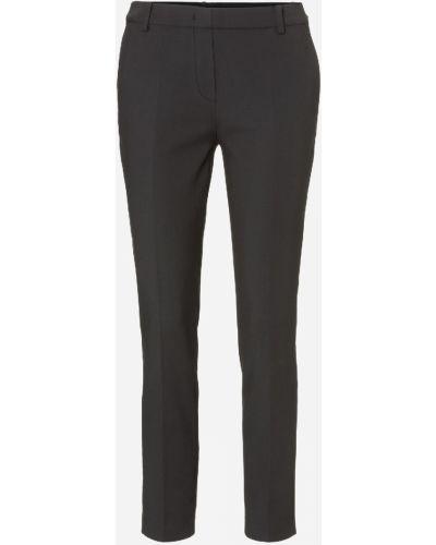 Хлопковые деловые черные брюки эластичные Marc O' Polo