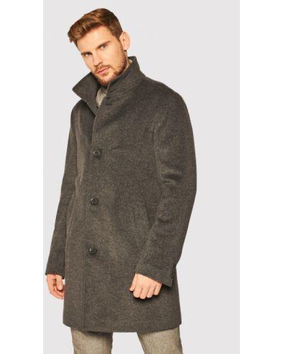 Płaszcz wełniany - szary Oscar Jacobson