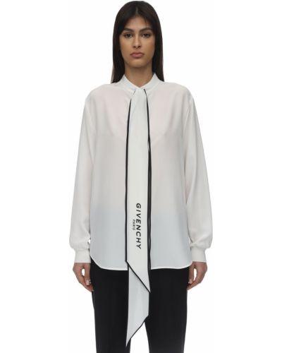 Biała koszula z dekoltem w serek Givenchy