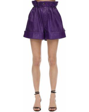 Шорты с карманами - фиолетовые Miu Miu