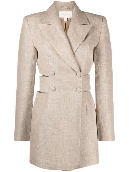Удлиненный пиджак двубортный на пуговицах с подкладкой Matériel