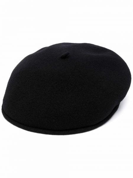 Шерстяной берет - черный Marine Serre