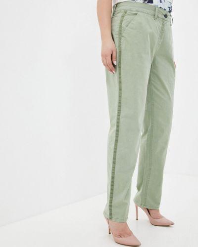 Прямые зеленые брюки Ulla Popken