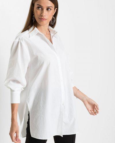 Белая блузка оверсайз Bonprix