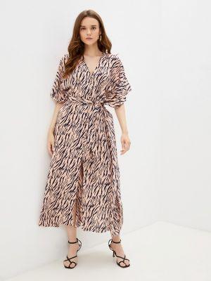 Бежевое прямое платье Zibi London