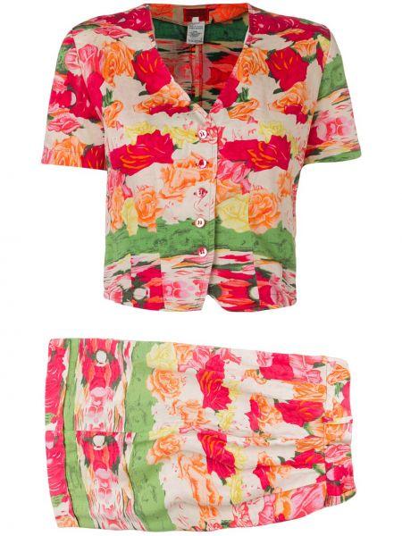 Блузка винтажная с поясом Kenzo Pre-owned