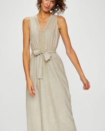 Платье макси с V-образным вырезом с поясом прямое Silvian Heach