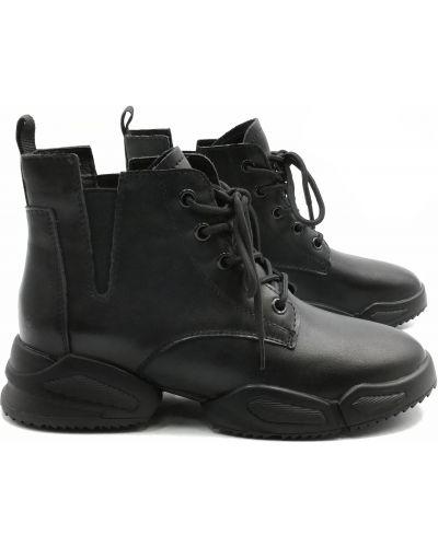 Кожаные ботинки - черные Lifexpert