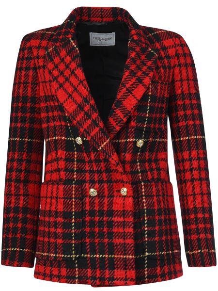 Пиджак шерстяной красный Forte Couture