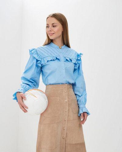 Голубая блузка с рюшами Sister Jane