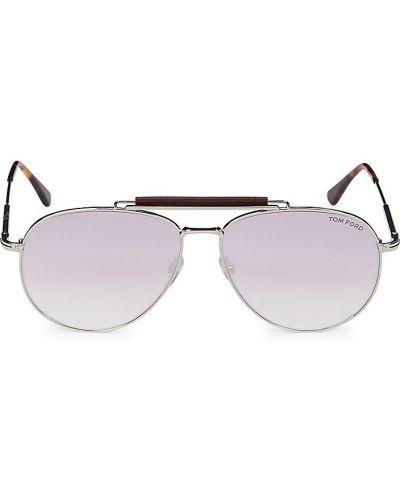 Солнцезащитные очки металлические - розовые Tom Ford