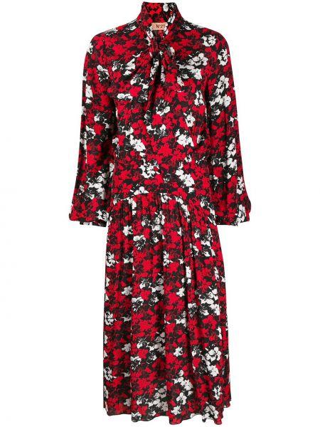 Платье миди с длинными рукавами - черное N°21