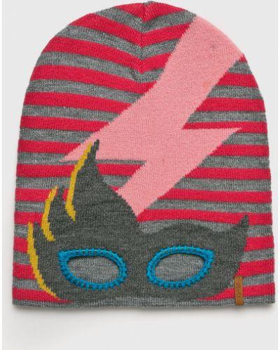 Зимняя шапка розовый с узором Barts