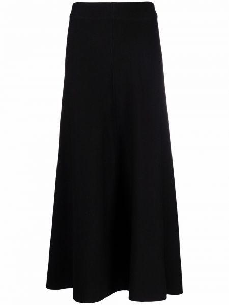 Długa spódnica wełniana - czarna Pinko