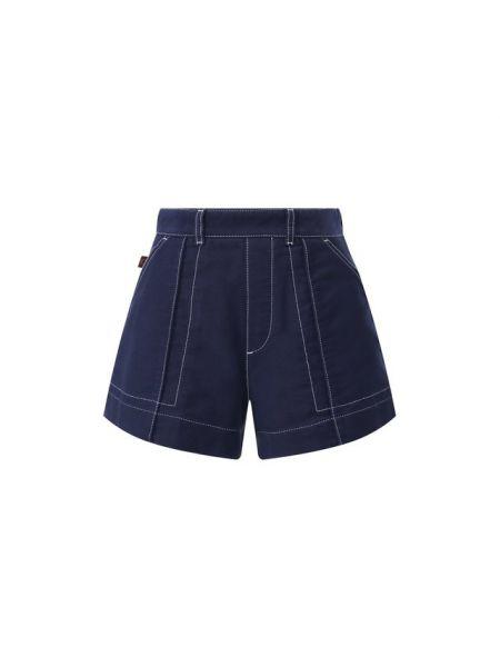 Джинсовые шорты с завышенной талией короткие Chloé