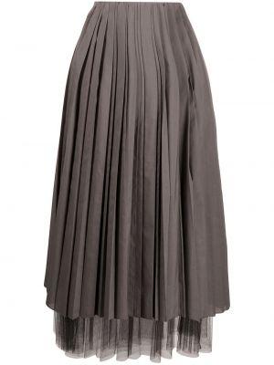 Плиссированная юбка с завышенной талией пачка Fabiana Filippi